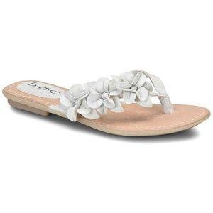 B.O.C. White Adney Slip on Flat Sandal